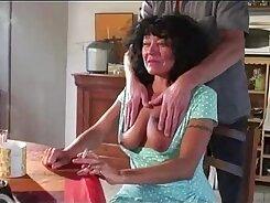 Beefcake granny gangbanged by horny couple