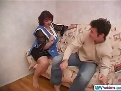 Amateur russian mother deeplythroats old cock