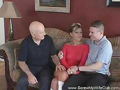 Amateur wife sharing under the table