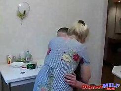 Beautiful Grandma Getting Fucked In The Kitchen