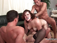 British babe double anal threesome and fucks