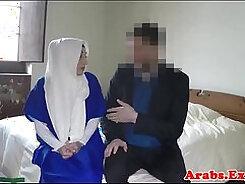 Arab muslim girl Hungry Woman Gets Food and Fuck