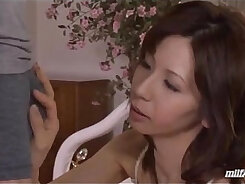 Amazing babe in sexy milf lingerie blow a large penis for cum