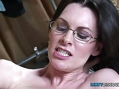 Busty babe gets facial after having sex