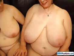 BBW matures rub cock online as we watch on my DVD