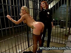 Beefcake stud fucks red headed ass hole of filthy blond haired MILF with TIGHT