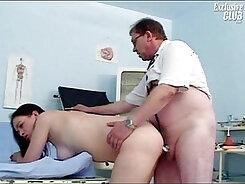 Brunette pussy searing fetish
