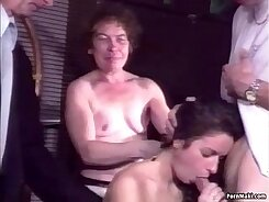 Aubrine Celestia hairy pussy and anal pounded outdoors
