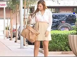 Candid voyeur princess nice stilettoes shorts