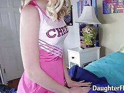 Bad teen compeers step daughter