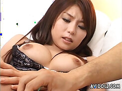 Asian babe fingering herself while chucking