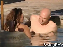 Couple Of Hubbys Go Crazy At A Swinger Party