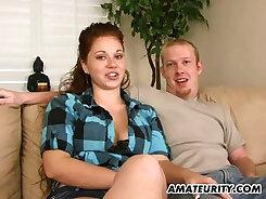 Cute amateur girlfriend dicksucking at home