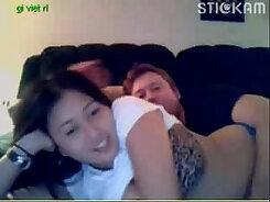 cute chubby Asian teen showing her kinky body on webcam