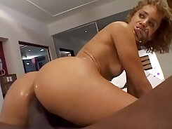Black cock fucks my pussy and that mean ass