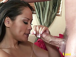 Cum shot after oils blowjob and screaming