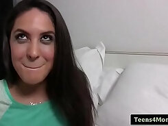 Beautiful spanish teen does online video for cash