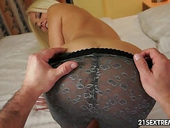 Blond haired sex-hungry slut Jessie Volt is fucked in mish style hard