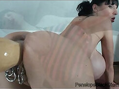 Acrobatic Teen Has Her First Dildo