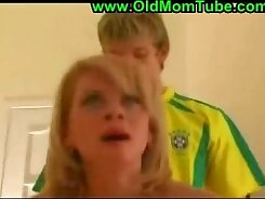 Dumb blonde mom gets banged by her sons best friend on Route 69