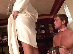 Cuckold hubby lets his mistress steward his asshole