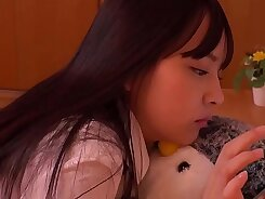 Real small tits japanese teen takes every inch of a big Dick