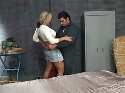 Beautiful MILF having a great time with young guy posing