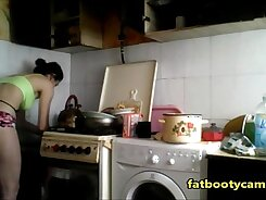 Spycam spying on my ex stepsister, showing off her plugged ass