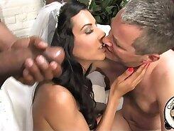 Beautiful horny french girl licks big black sausage