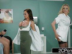 Briana Banks, Nikki Benz and Celine Flann Swiss Man