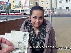 Euro amateur fucks escort in public for money