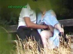 Creamy Voyeur Amateur Sex Video While Outdoors